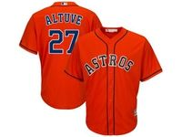 Mens Mlb Los Angeles Angels #27 Mike Trout Orange Cool Base Jersey