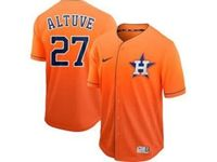 Mens Mlb Houston Astros #27 Jose Altuve Orange Cool Base Nike Fade Jersey