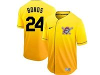 Mens Mlb Pittsburgh Pirates #24 Barry Bonds Gold Nike Drift Cool Base Jersey