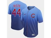Mens Mlb Chicago Cubs #44 Anthony Rizzo Blue Cool Base Nike Fade Jersey