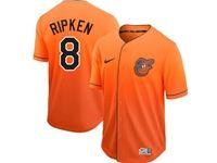 Mens Mlb Baltimore Orioles #8 Cal Ripken Jr. Orange Nike Drift Cool Base Jersey