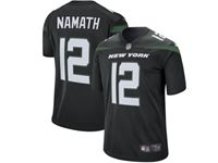 2019 Mens Women Youth Nfl New York Jets #12 Joe Namath Black Nike Player Game Jersey