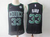 Mens Nba Boston Celtics #33 Larry Bird Black Swingman Nike Jersey