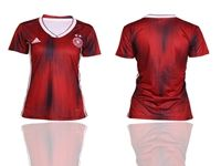 Women 2019-20 Soccer Germany Ntaional Team ( Custom Made ) Red Away Short Sleeve Jersey