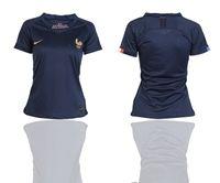 Women 2019-20 Soccer France National Team (custom Made) Blue Home Short Sleeve Jersey