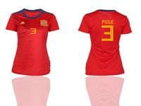 Women 19-20 Soccer Spain National Team (current Player) Red Home Jersey