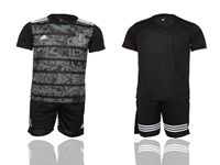 Mens 19-20 Soccer Mexico National Team ( Custom Made ) Black Away Short Sleeve Suit Jersey
