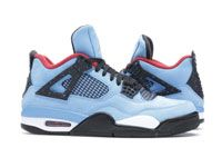 Men Nike Air Jordan Retro 4 Cactus Jack Travis Scott University Blue Red Basketball Shoes