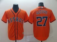 Mens Mlb Houston Astros #27 Jose Altuve Orange Cool Base Jersey