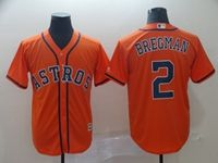 Mens Mlb Houston Astros #2 Alex Bregman Orange Cool Base Jersey