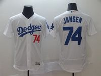 Mens Mlb Los Angeles Dodgers #74 Kenley Jansen White Flex Base Jersey