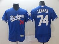 Mens Mlb Los Angeles Dodgers #74 Kenley Jansen Blue Flex Base Jersey