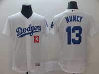Mens Mlb Los Angeles Dodgers #13 Max Muncy White Flex Base Jersey
