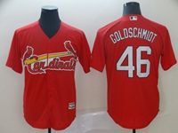 Mens 2019 Majestic St. Louis Cardinals #46 Paul Goldschmidt Red Cool Base Jersey