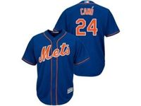 Mens 2019 Mlb New York Mets #24 Robinson Cano Blue Cool Base Player Jersey
