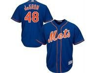 Mens 2019 Mlb New York Mets #48 Jacob Degrom Blue Cool Base Player Jersey
