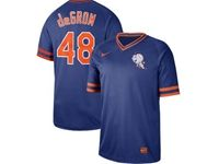 Mens Mlb New York Mets #48 Jacob Degrom Blue Cooperstown Collection Legend V Neck Cool Base Nike Jersey