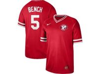 Mens Mlb Cincinnati Reds #5 Johnny Bench Red Cooperstown Collection Legend V Neck Cool Base Nike Jersey