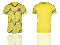 Mens 2019-20 Soccer Colombia National Team (custom Made) Yellow Home Short Sleeve Thailand Jersey