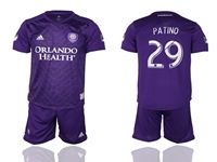 Mens 19-20 Soccer Orlando City Sc Club #29 Patino Purple Home Short Sleeve Suit Jersey