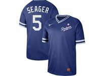 Mens Mlb Los Angeles Dodgers #5 Corey Seager Blue Cooperstown Collection Legend V Neck Cool Base Nike Jersey