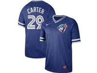 Mens Mlb Toronto Blue Jays #29 Joe Carter Blue Cooperstown Collection Legend V Neck Cool Base Nike Jersey