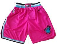 Nba Nike Miami Heat Pink 2019 City Edition Shorts
