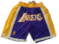 Mens Nba Los Angeles Lakers Pruple Nike Hardwood Classics Pocket Shorts