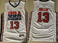 Mens Nba 1 Dream Teams #13 Mullin Nike White Jersey