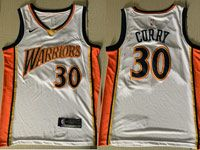 Mens Nba Golden State Warriors #30 Stephen Curry White 2009-10 Home Swingman Jersey