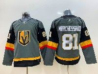 Women Vegas Golden Knights #81 Jonathan Marchessault Gray Adidas Jersey