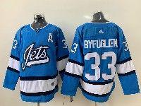 Mens Nhl Winnipeg Jets #33 Dustin Byfuglien Light Blue Adidas Jersey