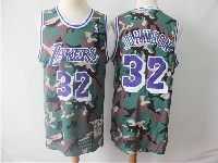 Mens Nba Los Angeles Lakers #32 Magic Johnson Camo Hardwood Classics Mitchell≠ss Jersey