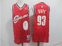 Mens Nba Cleveland Cavaliers #93 Bape Red Hardwood Classics Mitchell≠ss Jersey