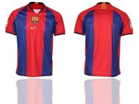 Mens 19-20 Soccer Barcelona Club ( Custom Made ) Red And Blue Stripe Home Thailand Jersey