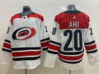 Mens Nhl Carolina Hurricanes #20 Sebastian Aho White Adidas Jersey