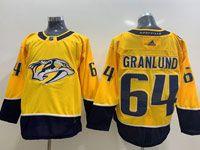 Mens Nhl Nashville Predators #64 Mikael Granlund Gold Home Adidas Jersey