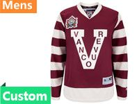 Mens Reebok Nhl Vancouver Canucks Custom Made Rose Red Jersey