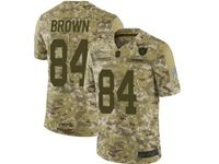 Mens Women Nfl Oakland Raiders #84 Antonio Brown Camo Salute To Service Vapor Untouchable Limited Jersey