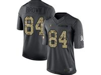 Mens Women Nfl Oakland Raiders #84 Antonio Brown Black Camo Number Salute To Service Limited Jersey