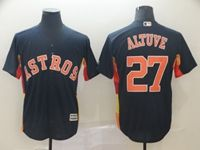 Mens 2019 Mlb Houston Astros #27 Jose Altuve Navy Cool Base Player Jersey