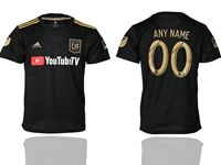 Mens 19-20 Soccer Los Angeles Fc Club (custom Made) Black Home Short Sleeve Thailand Jersey