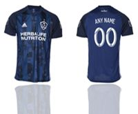 Mens 19-20 Soccer Los Angeles Galaxy Club (custom Made) Blue Away Short Sleeve Thailand Jersey