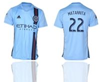 Mens 19-20 Soccer New York Fc Club #22 Ronald Matarrita Blue Home Short Sleeve Thailand Jersey