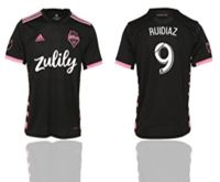 Mens 19-20 Soccer Seattle Sounders Club #9 Ruidiaz Black Home Short Sleeve Thailand Jersey