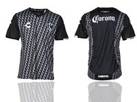 Mens 19-20 Soccer Adelaide Club (custom Made) Black Short Sleeve Thailand Jersey