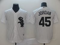 Mens Mlb Chicago White Sox #45 Michael Jordan White Cool Base Jersey