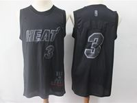 Mens Nba Miami Heat #3 Dwyane Wade Black 2019 New Black Mvp Honorary Edition Jersey