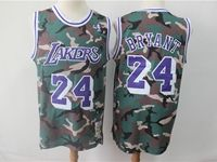 Mens Nba Los Angeles Lakers #24 Kobe Bryant Camo Hardwood Classics Mitchell&ness Jersey