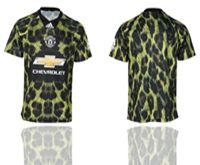 Mens 19-20 Soccer Manchester United Club ( Custom Made ) Camo Short Sleeve Jersey